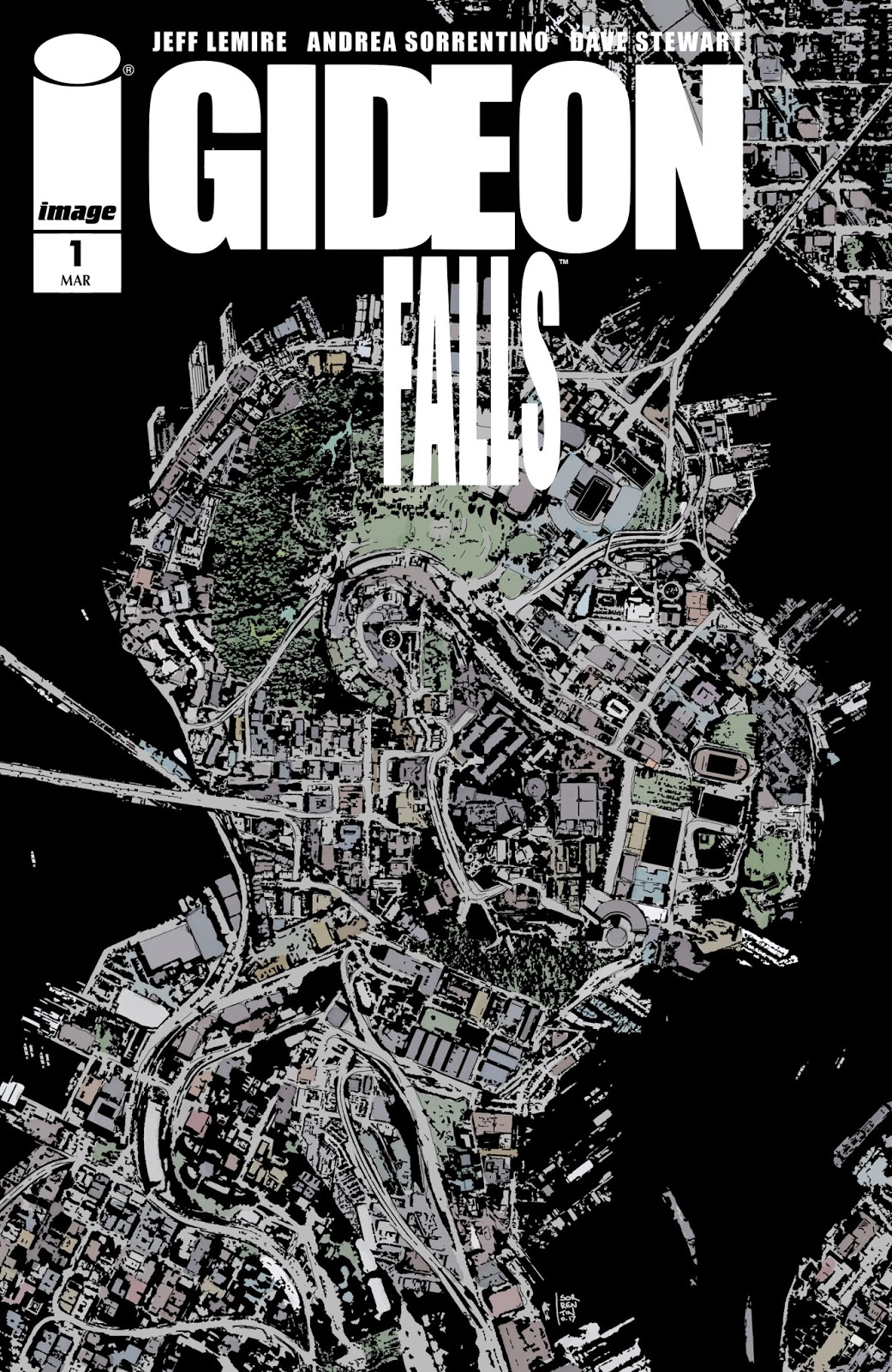 Gideon Falls cover By Andrea Sorrentino Colors by Dave Stewart