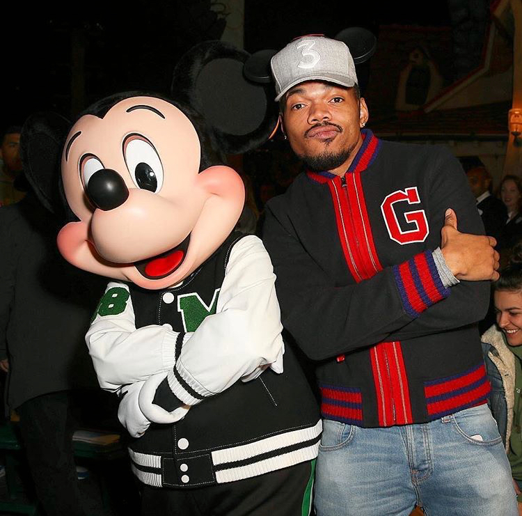 Chance the Rapper and Mickey Mouse looking fly as hell